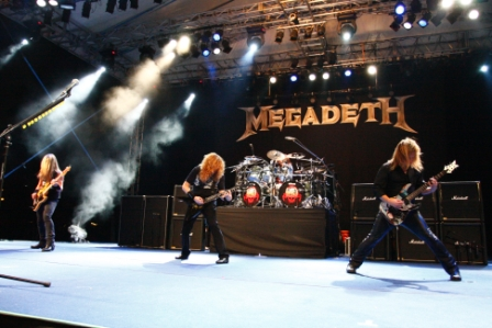 Megadeth performs a one night concert at Fort Canning Park