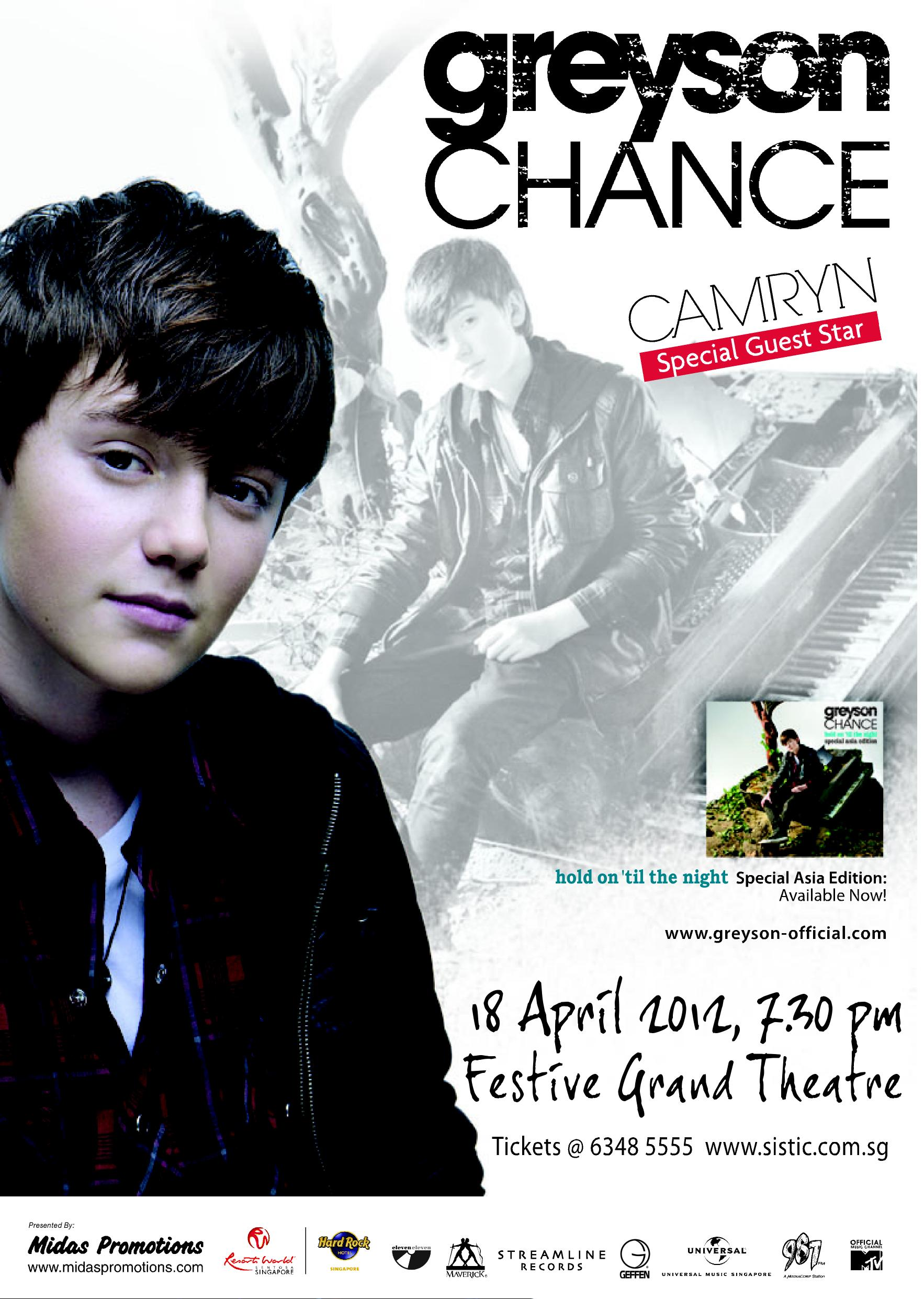 Win A Pair Of Greyson Chance Meet And Greet Passes For Ticket