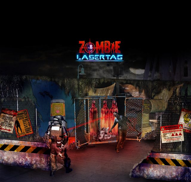 Halloween Horror Nights 7 Battling Zombies With Laser