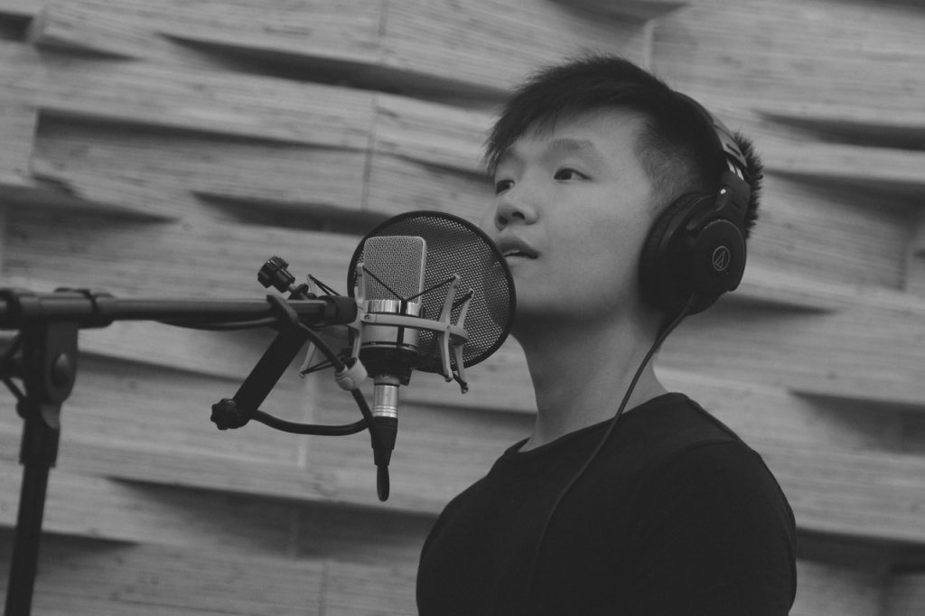 Shawn Tok recording song