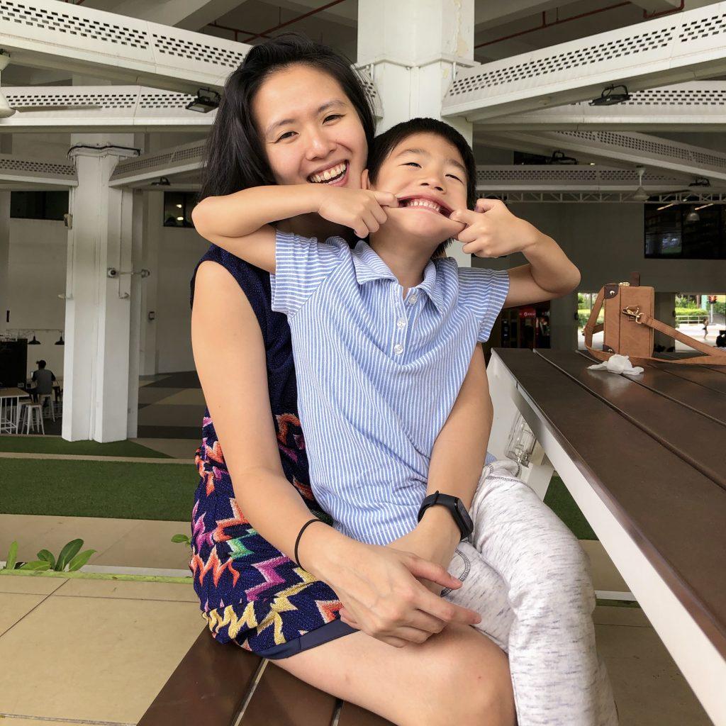 Benjamin Wang and his mother