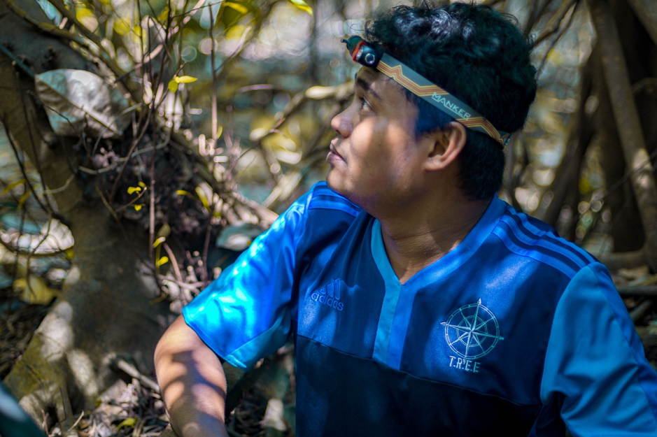 herizzad in trekking gear