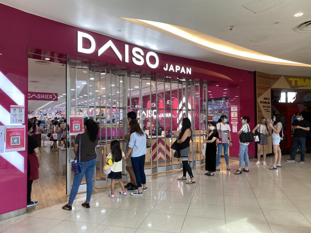 Long queues at Daiso over at Vivo City