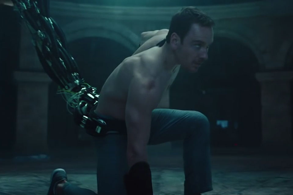 The Animus is a claw-like device that reads genetic memory, attached to Callum Lynch (Michael Fassbender) in order to access his ancestor's memories.