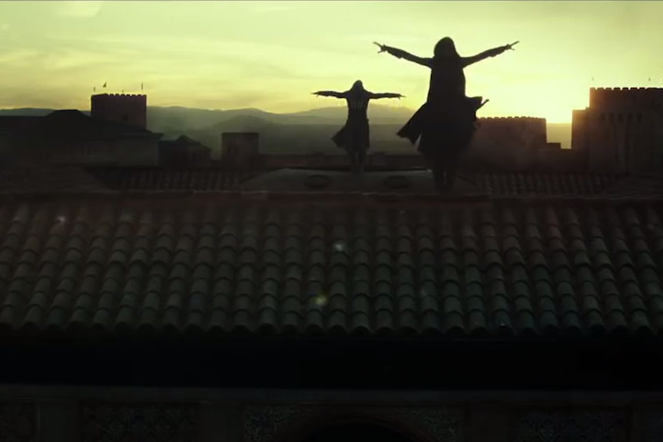 The Assassins get ready on the roofs of Granada, Spain.
